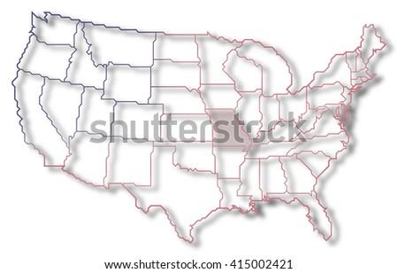 Map Missouri United States Stock Vector 494936860 Shutterstock