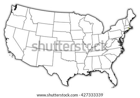 Map United States Rhode Island