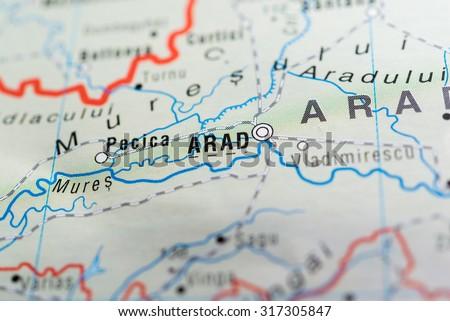 Map View Arad City Romania Stock Photo 317305847 Shutterstock
