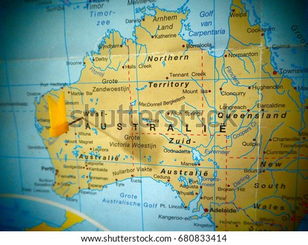 Map view australia on world map stock photo royalty free 680833414 map view of australia on a world map gumiabroncs Choice Image