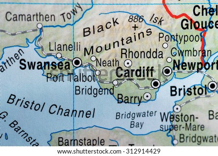Map view of Cardiff