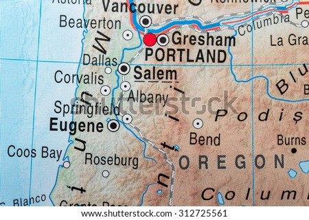 Map view of Eugene  - stock photo