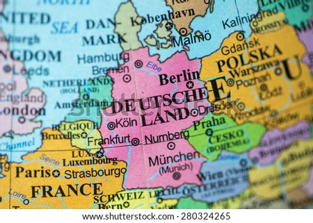 Map View Poland On Geographical Globe Stock Photo - Germany map geographical