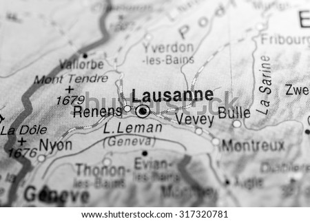 Map View Lausanne Switzerland Stock Photo 317320781 Shutterstock
