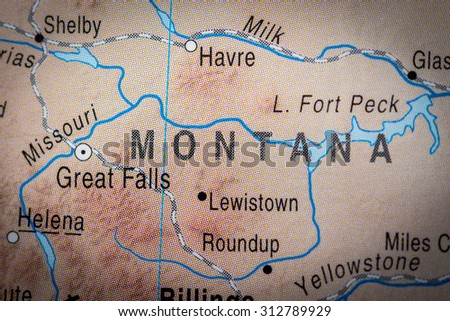 Map view of Montana State