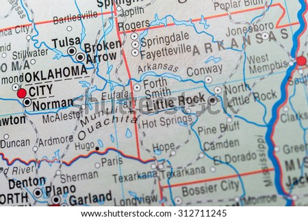 Oklahoma Map Stock Images RoyaltyFree Images Vectors - Map of oklahoma state