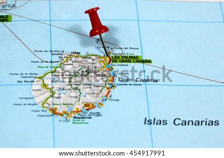 Map Pin Point Las Palmas On Stock Photo 454917991 Shutterstock