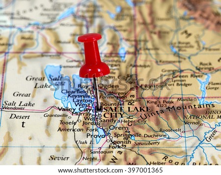 Utah Map Stock Images RoyaltyFree Images Vectors Shutterstock - Us map salt lake city