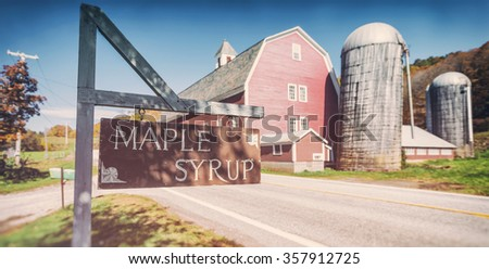 Maple syrup farm in Vermont - stock photo