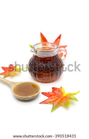 Maple syrup isolated on white background