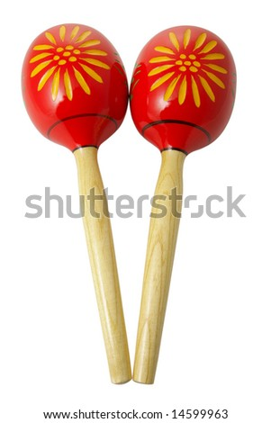 maracas on a isolated background - stock photo