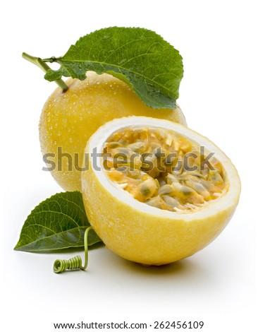 Maracuja, passion-fruit - stock photo