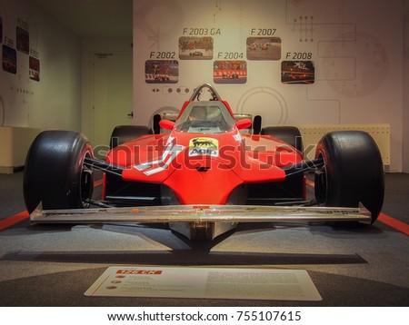 MARAELLO, ITALY JULY 21, 2017: 1980 F1 Ferrari 126 CK In The