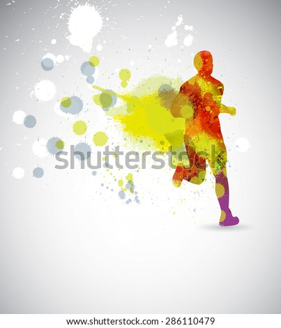 Marathon illustration - stock photo