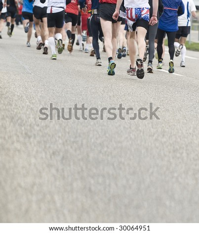 marathon race - stock photo