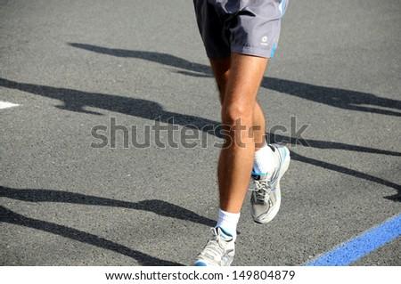 Marathon Runner - stock photo
