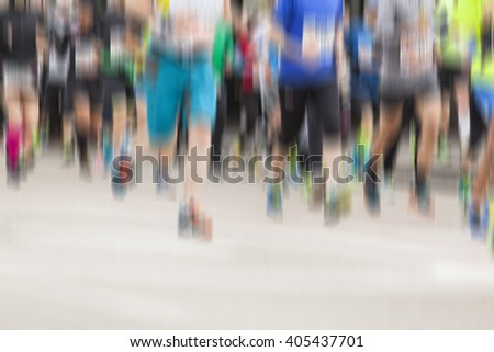 marathon runners,sport and activity blurred background