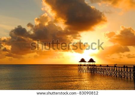 Maratua Paradise Resort, Kalimantan, Indonesia - stock photo