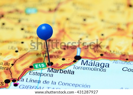 Marbella Pinned On Map Spain Stock Photo 431287927 Shutterstock