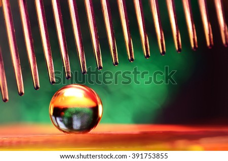 marble and green background - stock photo