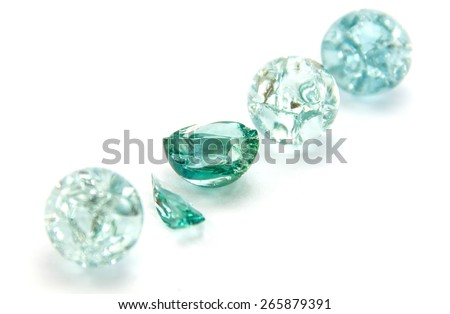 marble are broken But the more beautiful - stock photo