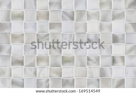 marble background grey tiles, mosaic - stock photo