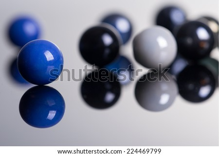 Marble Balls with reflection - stock photo
