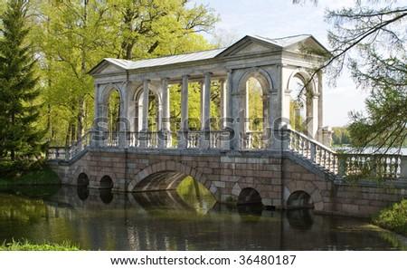 marble bridge - stock photo