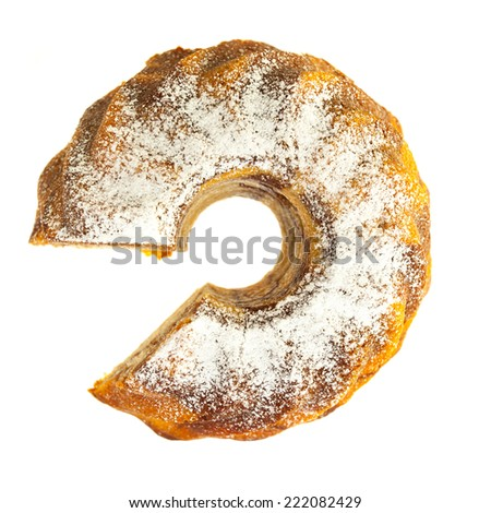 Marble cake from bird's eye view - stock photo
