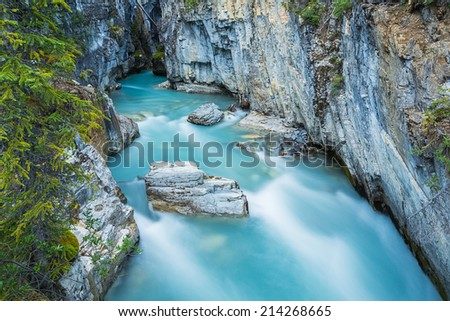 Marble Canyon from the Vermilion River Canada  - stock photo