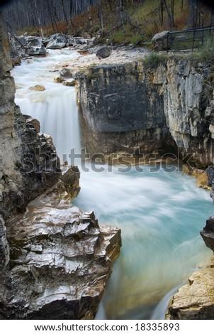 Marble Canyon in Kootenay National Park - stock photo