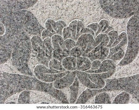 Marble carving Chinese temple in Thailand