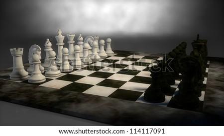 marble chess - stock photo