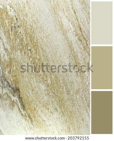 marble color palette swatches with complimentary - stock photo
