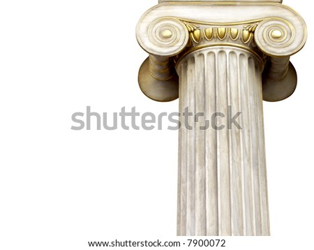 marble column - stock photo