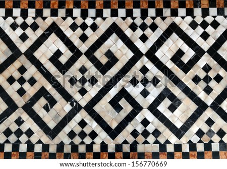 Marble floors. - stock photo