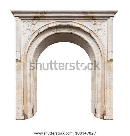 Marble gate with space for your text. - stock photo