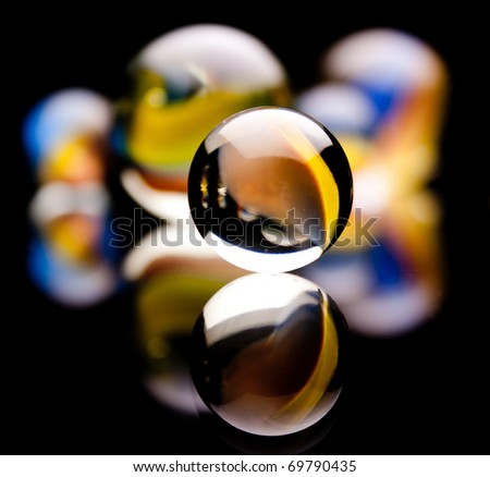 Marble Head-On - stock photo