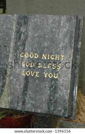 Marble headstone inscription - stock photo