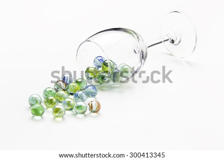 marble in glass - stock photo