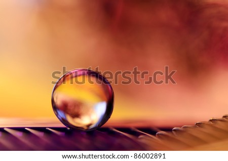marble in the storm - stock photo