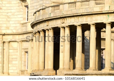 Marble made architectural historical building abstract photograph