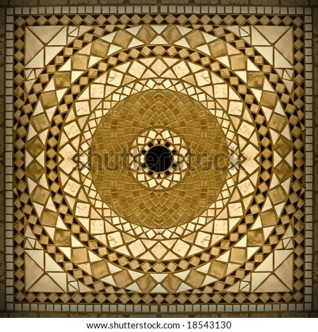 Marble mosaic background 2. Sepia version 2 - stock photo