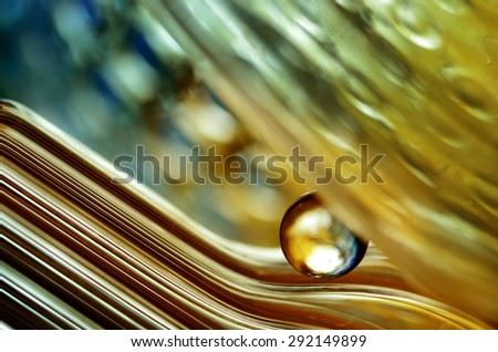 marble on the color background - stock photo