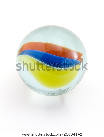 marble on white background with clipping path - stock photo
