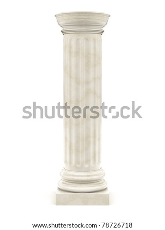 marble pillar isolated on white