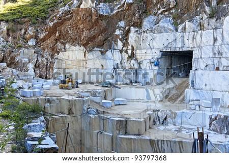 marble quarry - stock photo