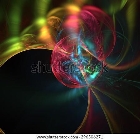 Marble's World abstract illustration - stock photo