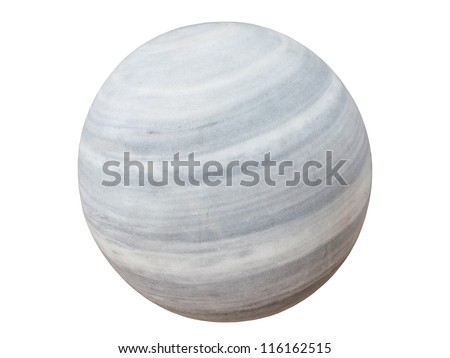 marble spheres stone carved - stock photo
