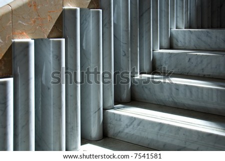 Marble Staircase - stock photo
